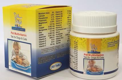 مولتی ویتامین حیوانات خانگی